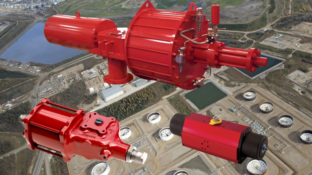 CP, GP and RC200 pneumatic actuators in the air
