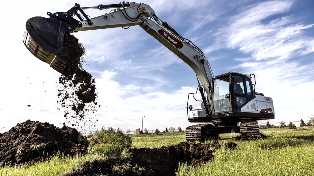 Bobcat's largest excavator features four selectable power modes to give operators adaptable performance