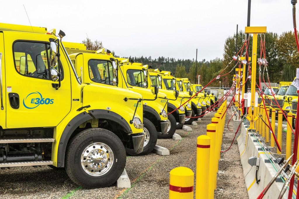 2 Environmental 360 Solutions Inc. trucks