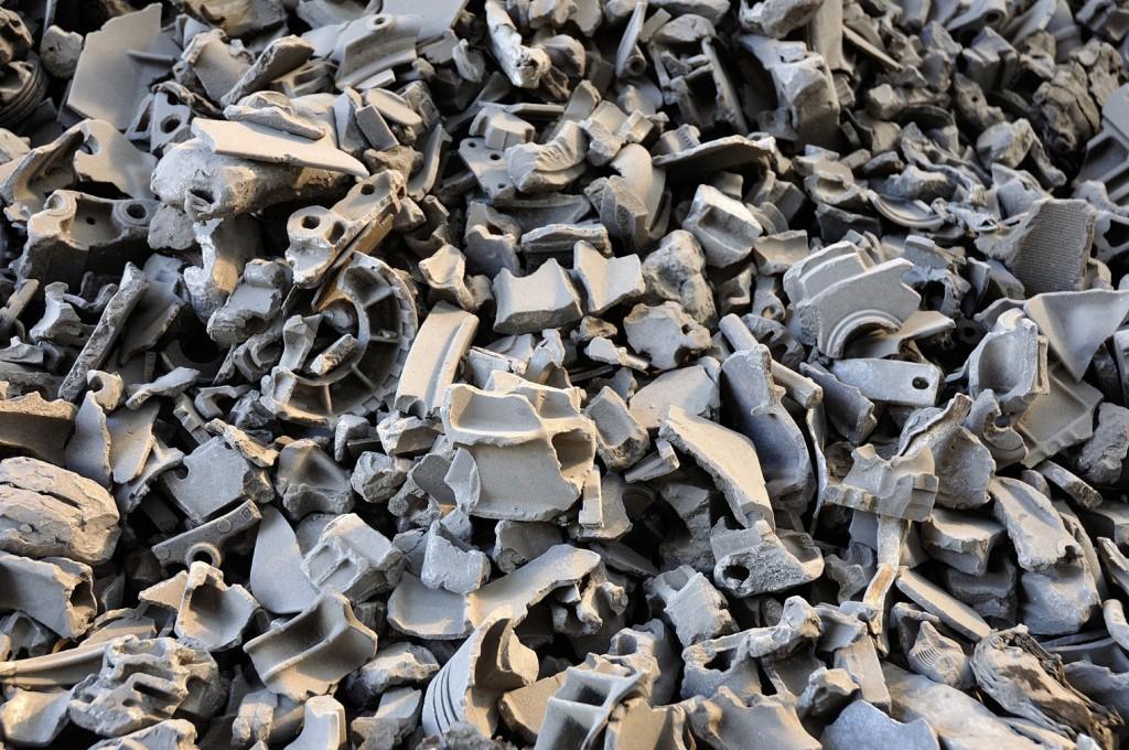 close up aluminum scrap