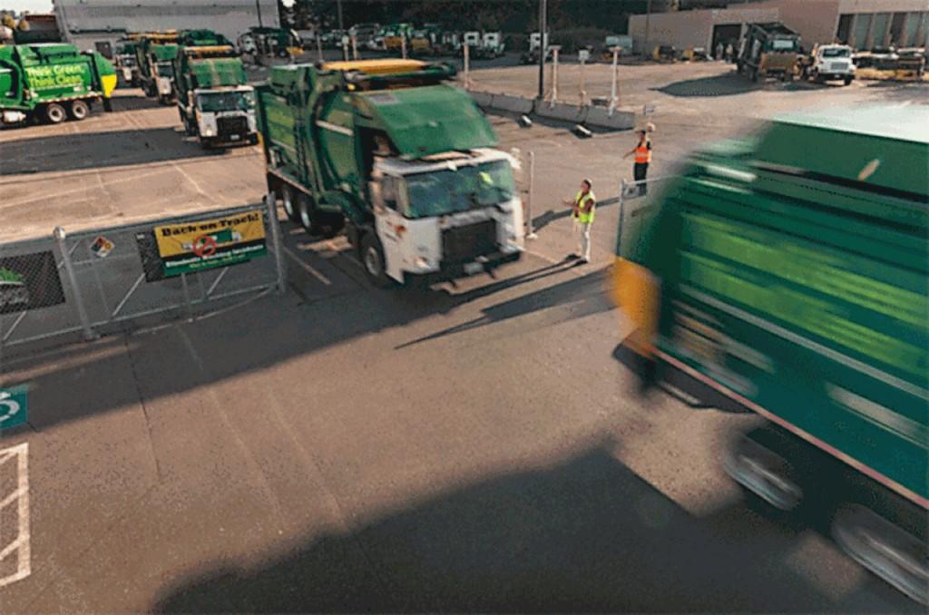 WM trucks in yard