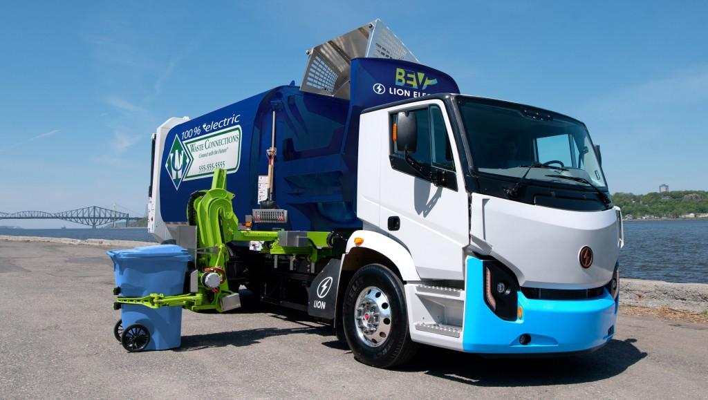Lion 8 zero emission refuse truck