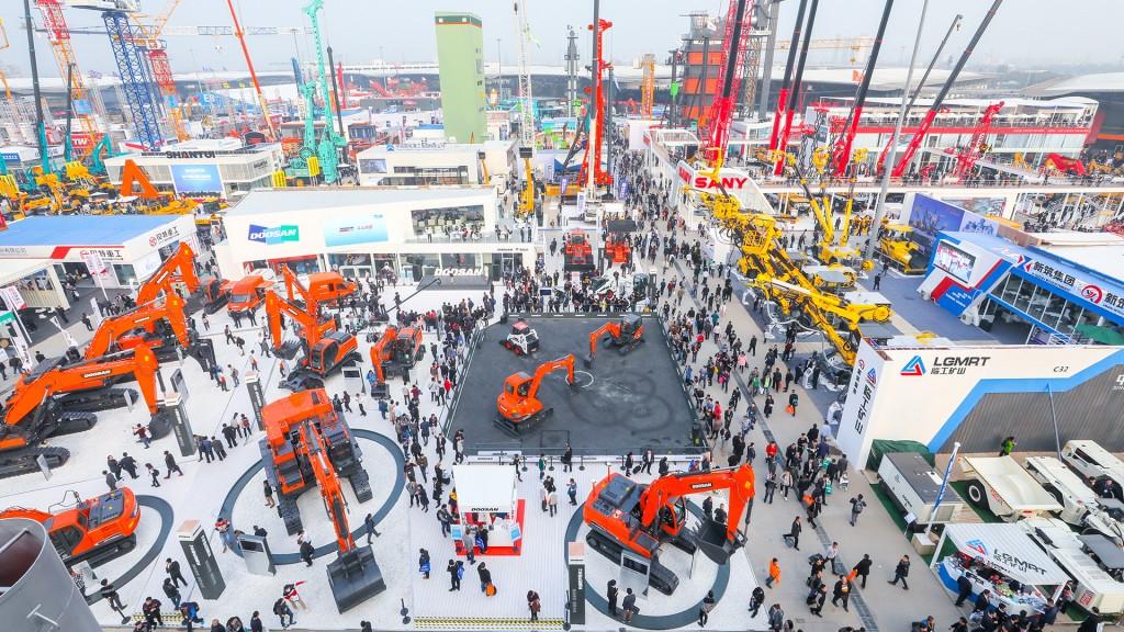 trade fair aerial shot
