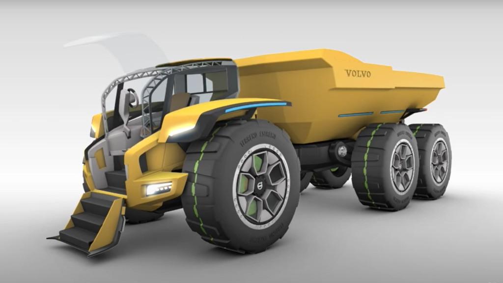 Volvo's CENTAUR articulated dump truck.