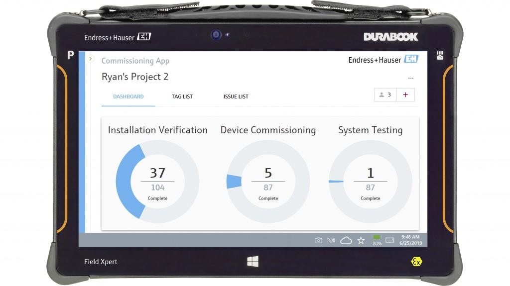 Endress Hauser Field Xpert tablet