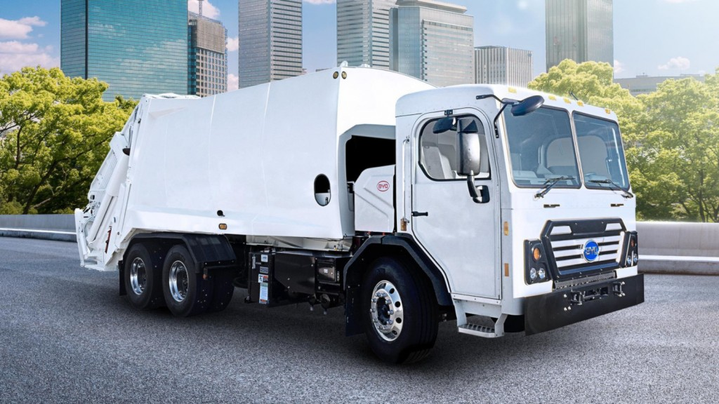 BYD electric rear loader collection truck