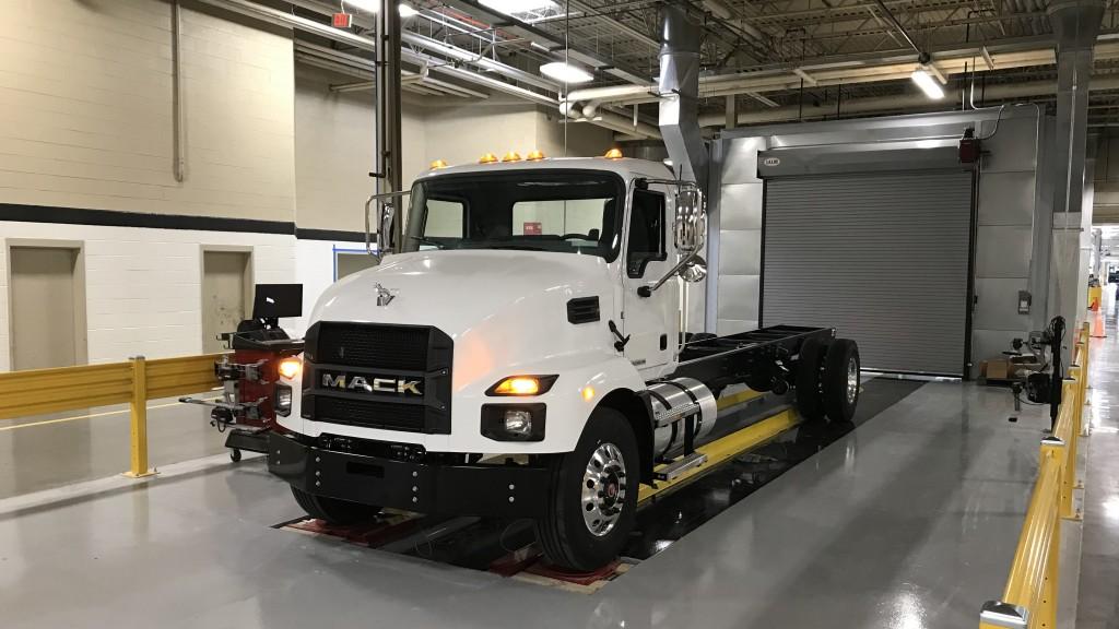 New Mack MD Series truck