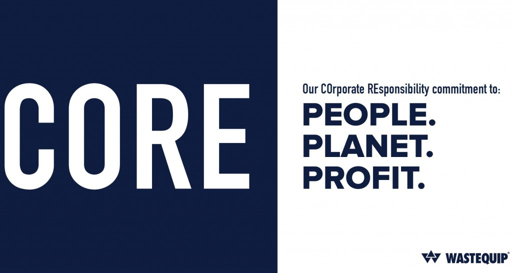 Wastequip's Corporate Social Responsibility Program (CORE) logo