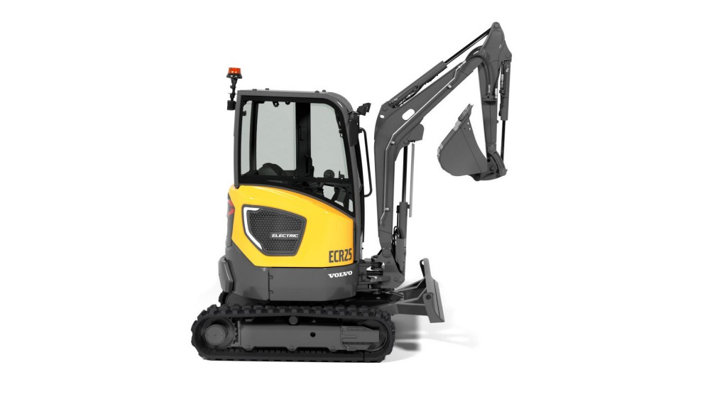 The Volvo Construction Equipment's ECR25 Electric