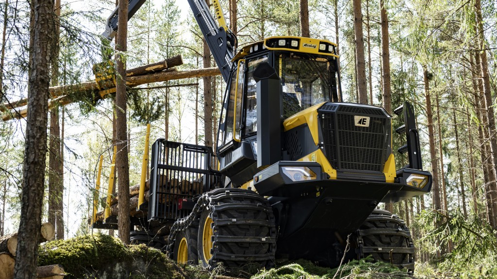 Ecolog forestry harvester doing work in a forest