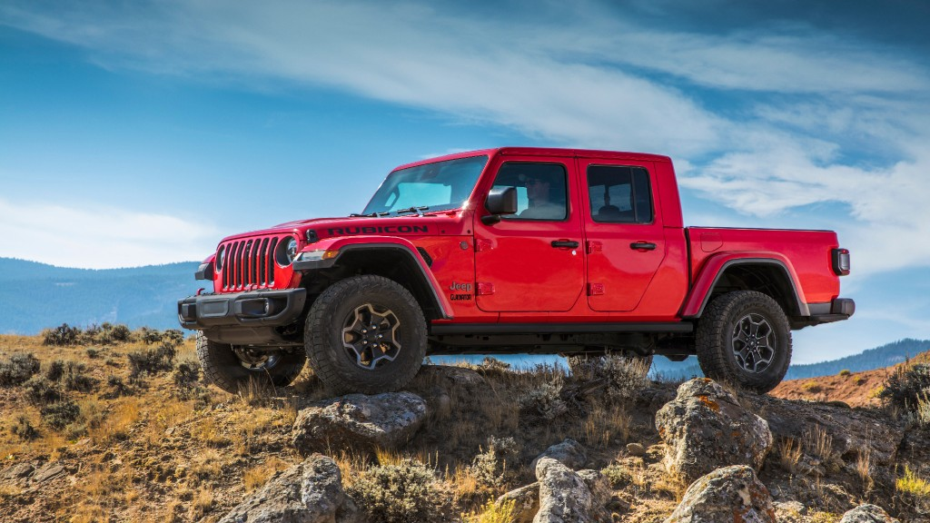 Red 2021 Jeep Gladiator pickup