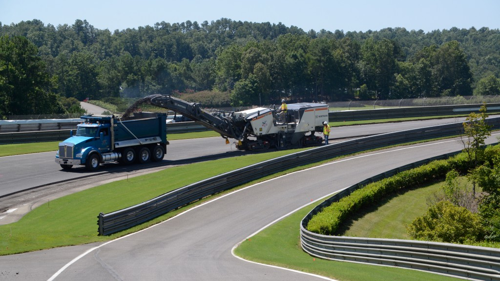 Wirtgen  W 210 Fi milling machines at work on highway