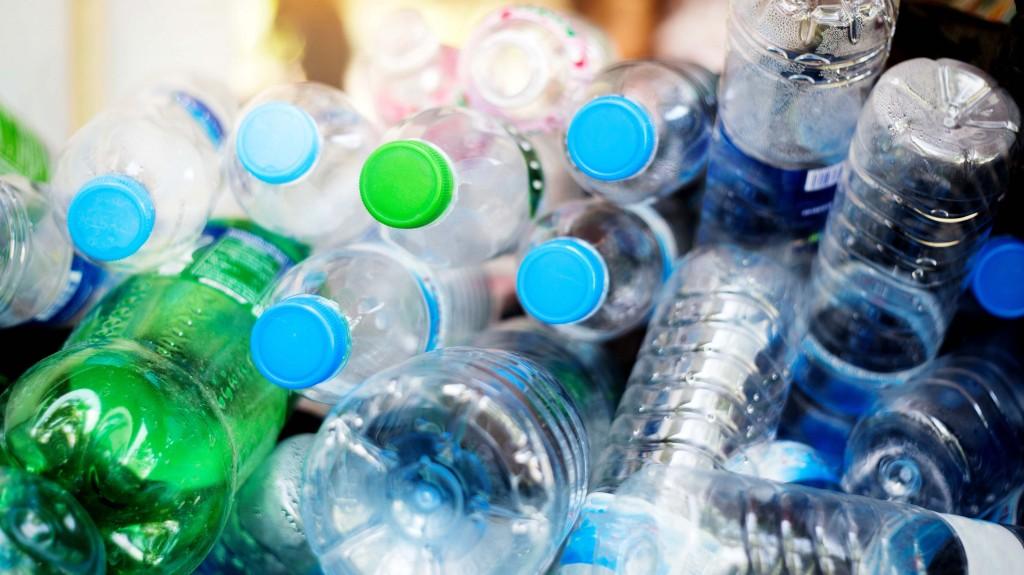 bunch of water bottles