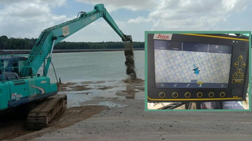 Machine control helps protect Singapore against rising sea levels