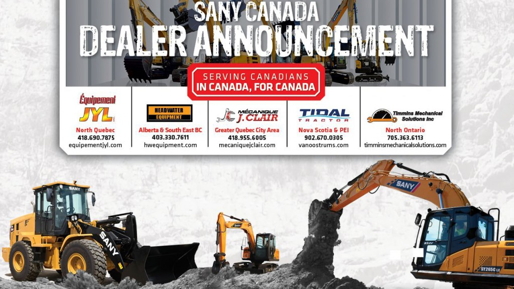 Sany dealers announcement infographic