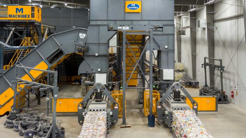 Machinex high capacity baler plant in Winnipeg