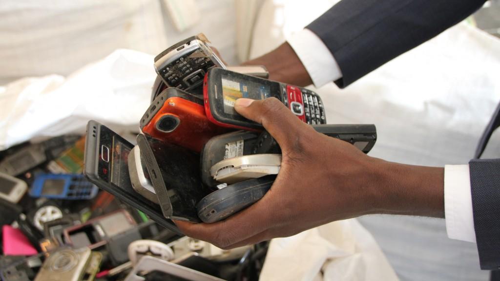 e-waste in hand
