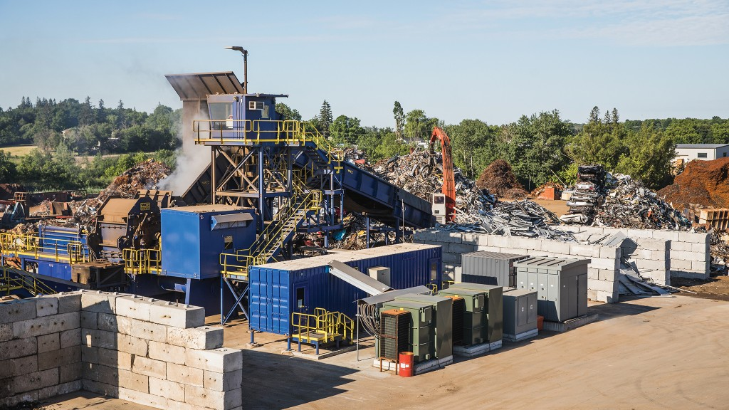 DMS Metals' new WENDT M6090 modular shredder and non-ferrous processing system.