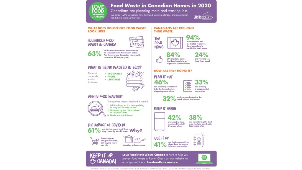Household food waste infographic