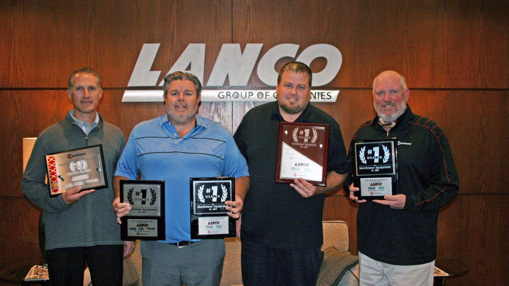 Lanco Group named Manitowoc North America Top Dealer of the Year