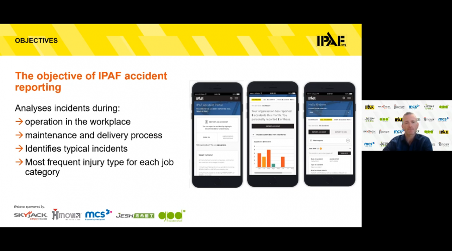 IPAF accident reporting infographic