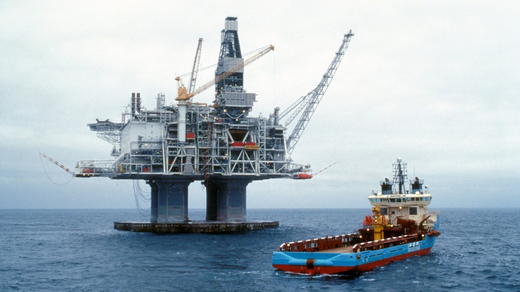 Hibernia oil rig offshore Newfoundland