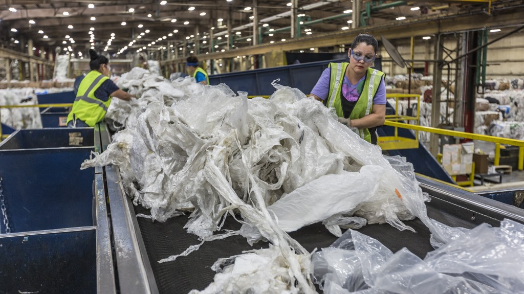 recycling plant assembly line