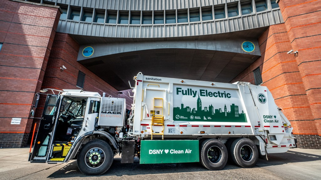 The DSNY Mack LR Electric demonstration model will be based at DSNY's Brooklyn North 1 garage