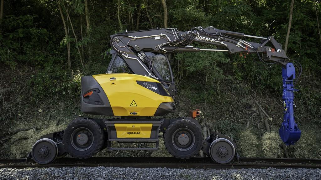 Mecalac railroad excavator