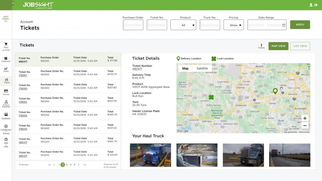 JobSight tracking device screenshot