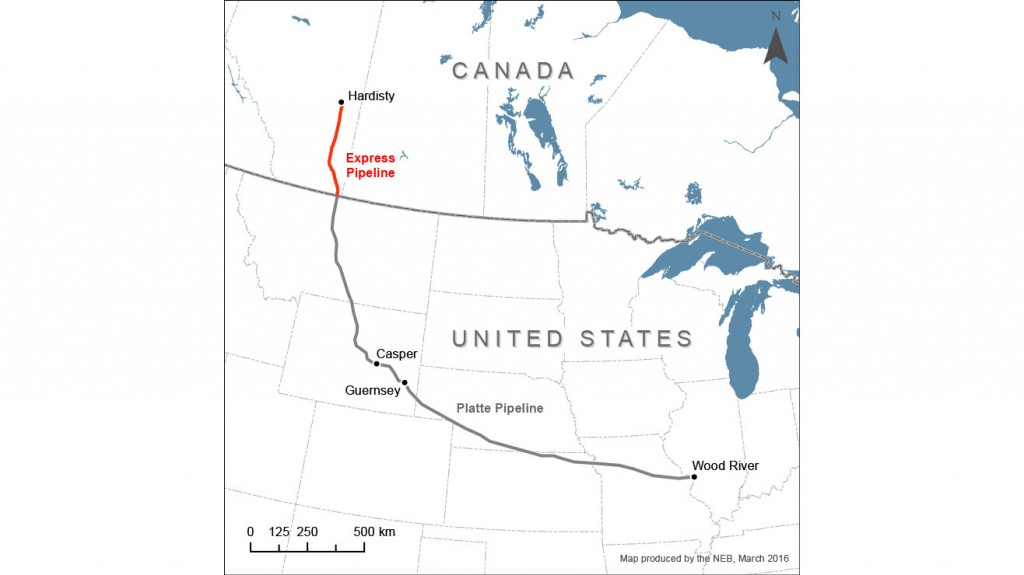 Enbridge express pipeline map