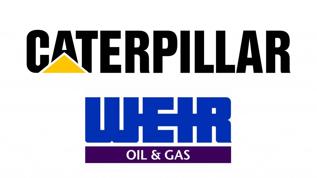 caterpillar  and Weir logo