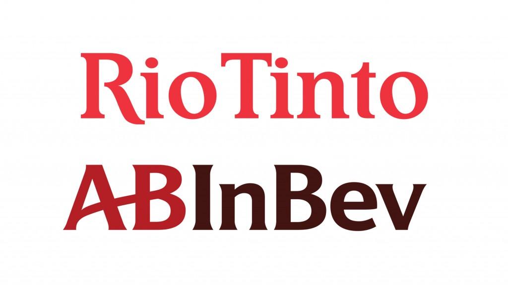 Rio Tinto nd AbInBev logo amalgamation