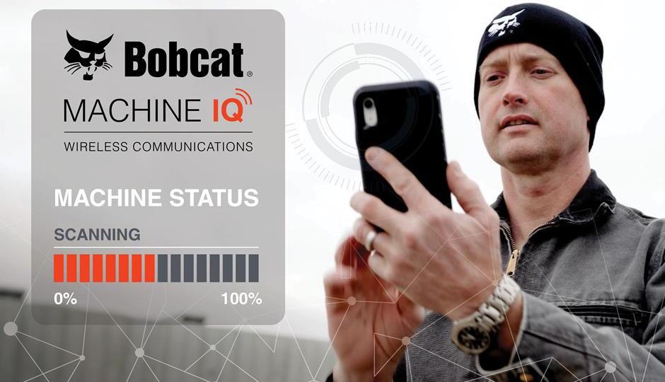 Bobcat Machine IQ wireless communication on a phone