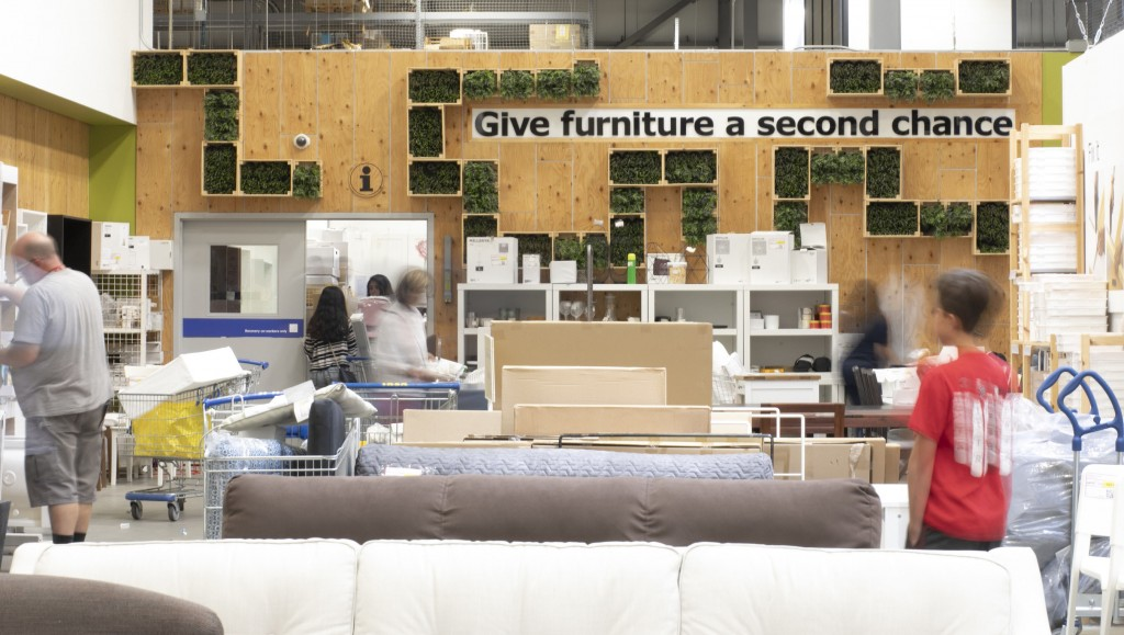 "Ikea ""give furniture a second chance"" campaign"