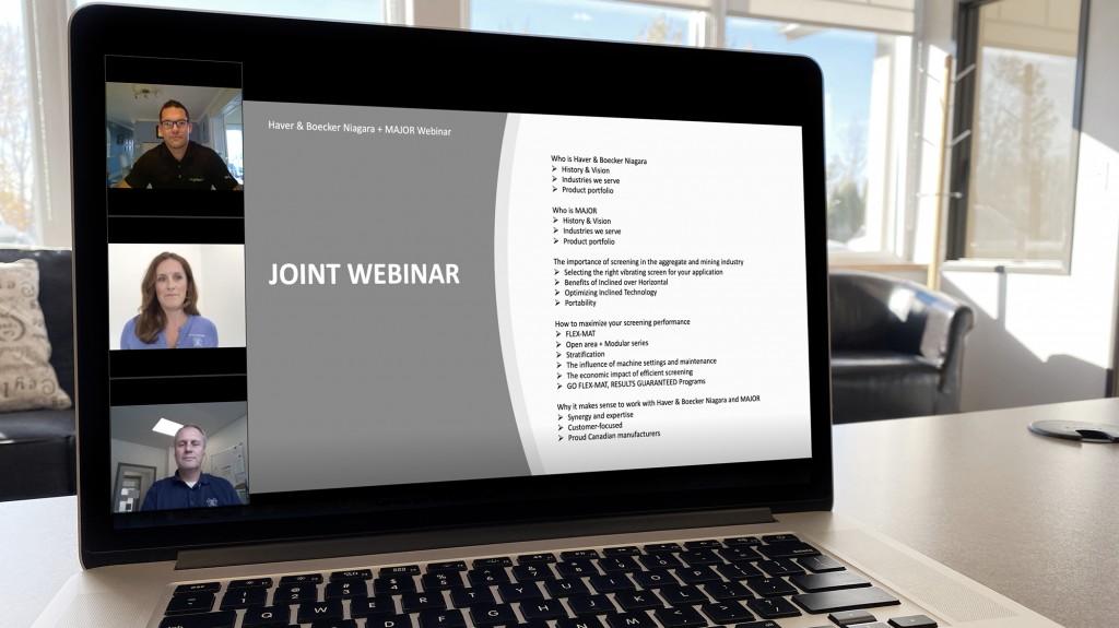 computer screen showing people conducting a webinar