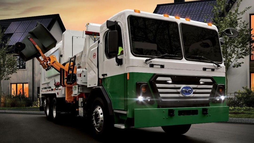 A BYD electric refuse truck