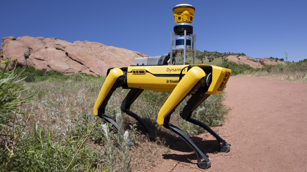 boston Dynamics autonomous robot named Spot in the field