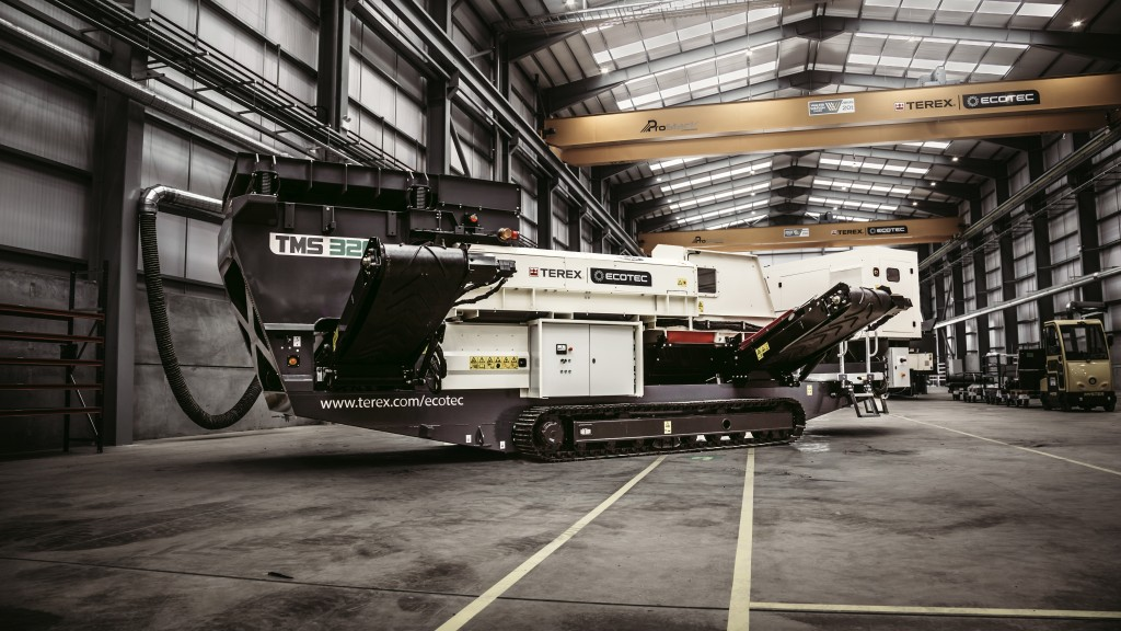 The Terex Ecotec TMS 320 in a warehouse facility