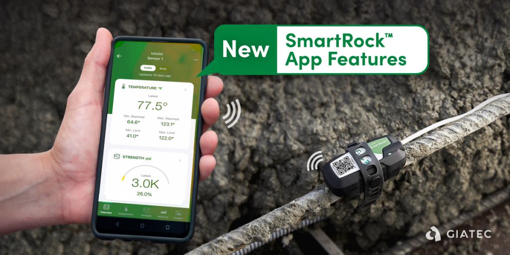 Giatec SmartRock mobile application