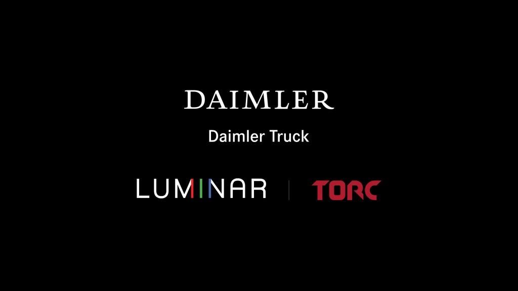 Daimler Trucks, Torc and Luminar  logos