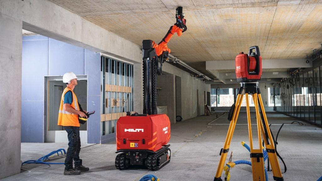 Hilti's BIM-enabled construction jobsite robot helps contractors tackle labour shortage challenges.