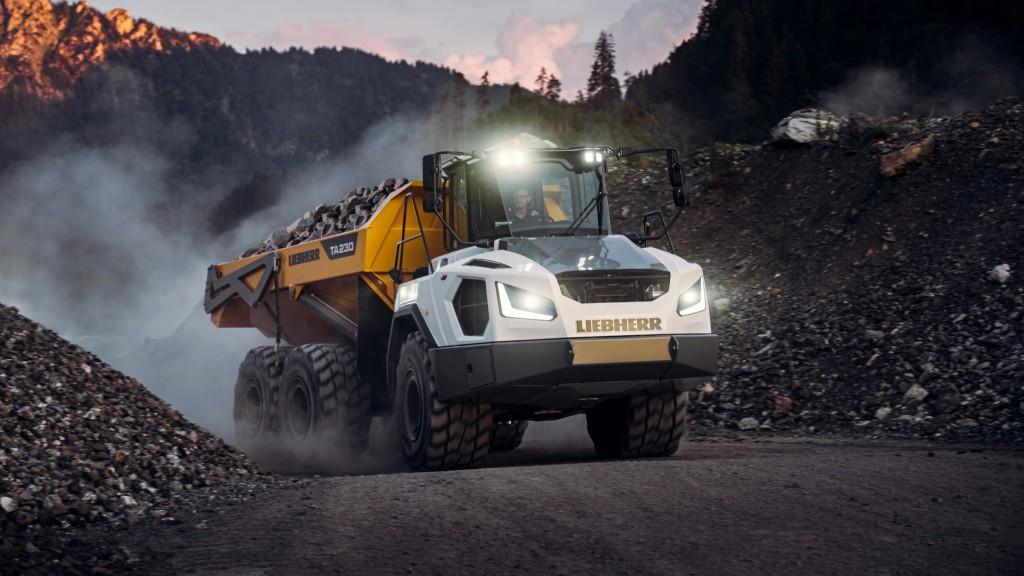 Liebherr's new TA 230 Litronic articulated dump truck.