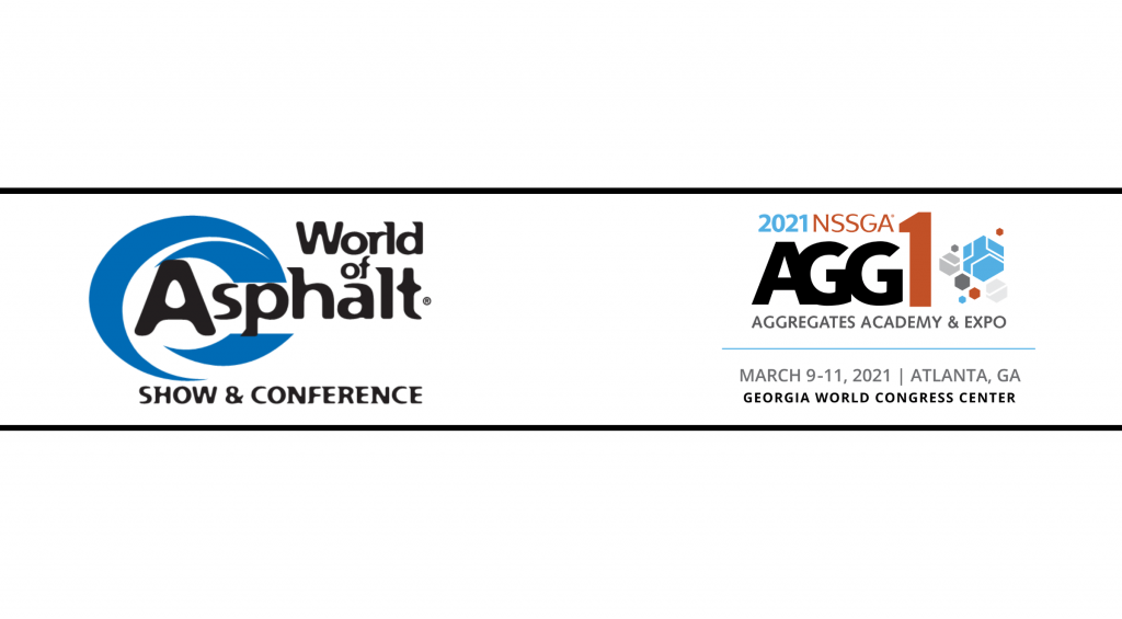 World of Asphalt Show & Conference and AGG1 Academy & Expo logos