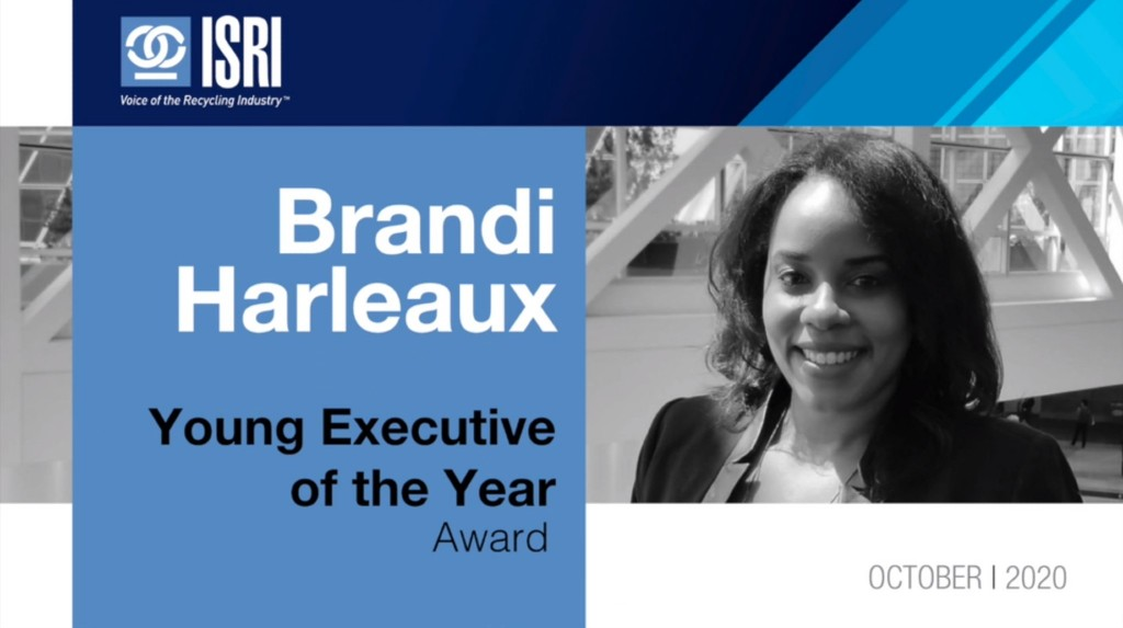 Brandi Harleaux young executive of the year