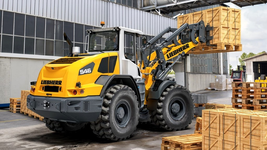 The Liebherr L 546 wheel loader