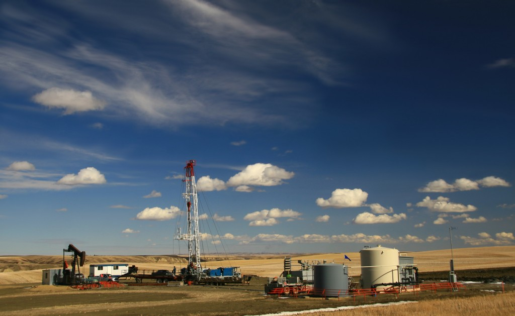 rural vista of an oil and gas operation