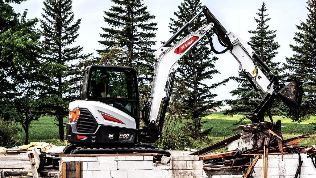 Bobcat excavator in demolition application