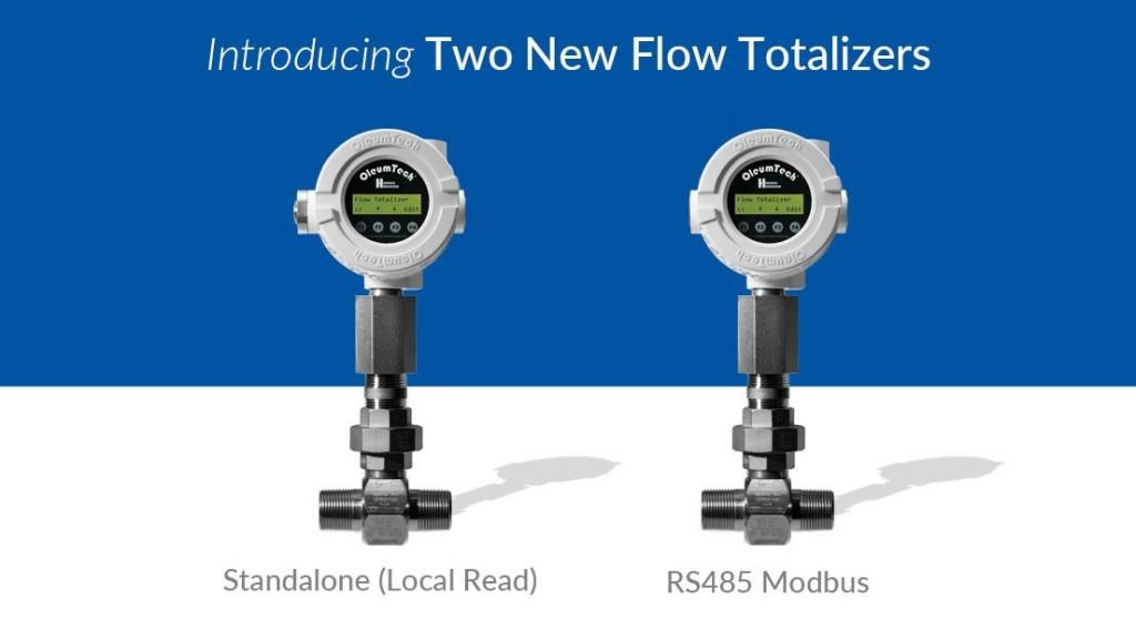 New Oleumtech flow totalizer range