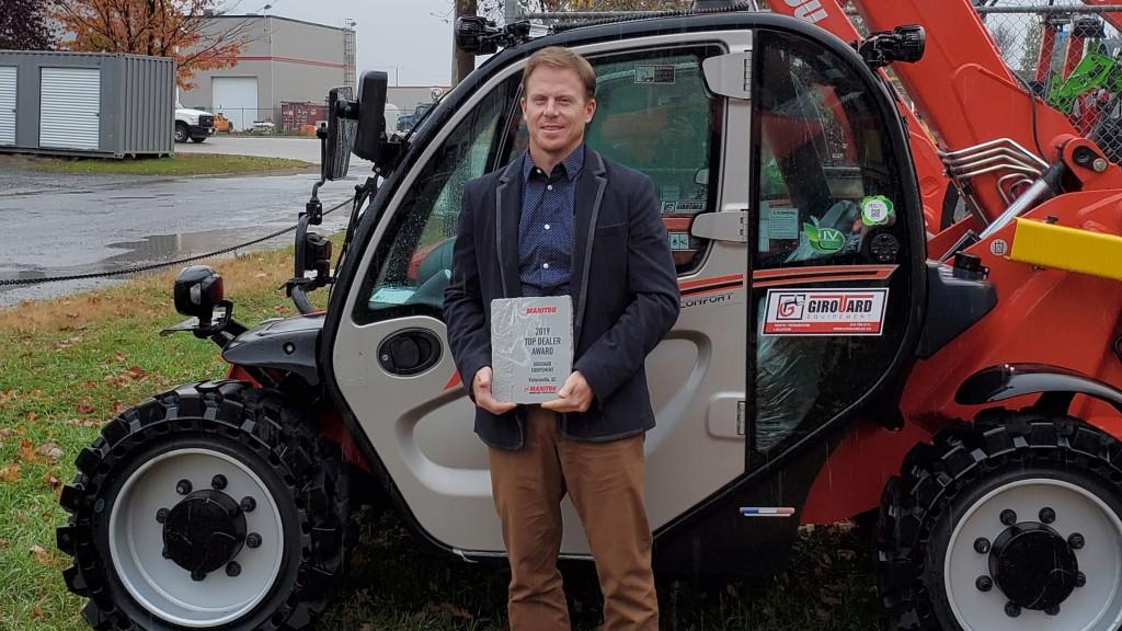 Manitou Group top dealer award winner Carl Girouard